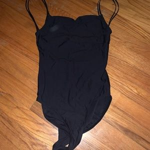 Wear moi black pinch front leotard